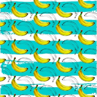 Padrão sem emenda de banana