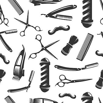 Padrão sem emenda de barbearia