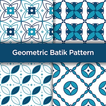 Padrão sem emenda de batik geométrica