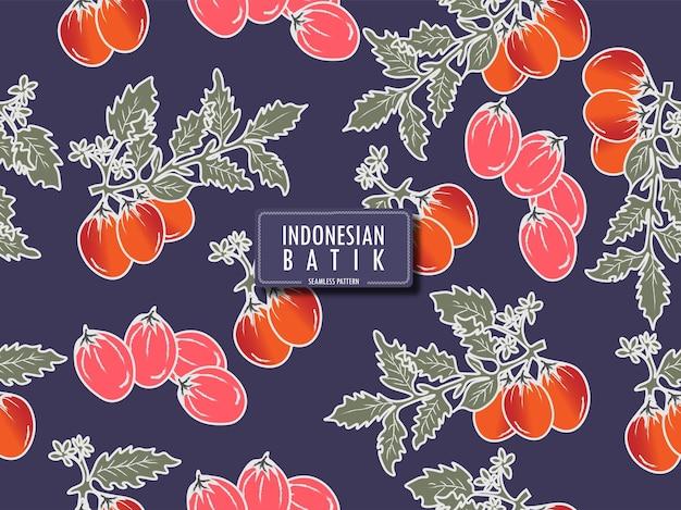 Padrão sem emenda de batique floral de batique da indonésia de jombang leste de java na indonésia