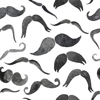 Padrão sem emenda de bigodes