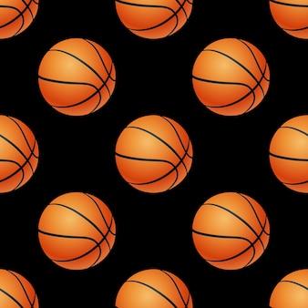 Padrão sem emenda de bolas de basquete