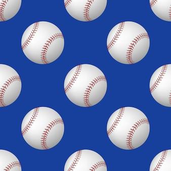 Padrão sem emenda de bolas de beisebol
