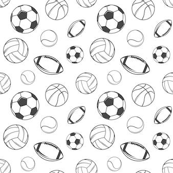 Padrão sem emenda de bolas esportivas