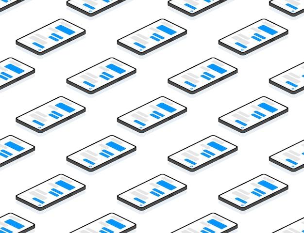 Padrão sem emenda de bolhas de mensagens planas