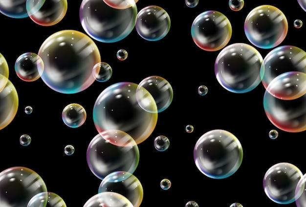 Padrão sem emenda de bolhas de sabão. textura de bolhas sem costura.