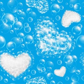 Padrão sem emenda de bolhas de sabão