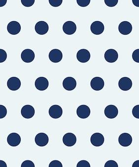 Padrão sem emenda de bolinhas os círculos azuis em um fundo branco textura para xadrez