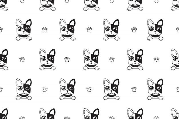 Padrão sem emenda de bulldog francês