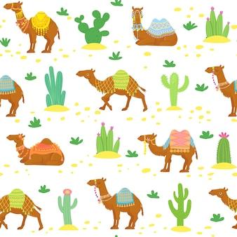 Padrão sem emenda de camelo
