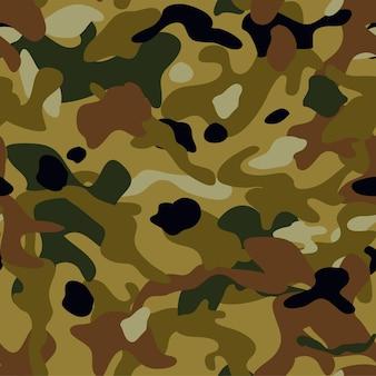 Padrão sem emenda de camuflagem textura militar de fundo vector