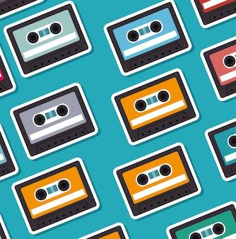 Padrão sem emenda de cassetes
