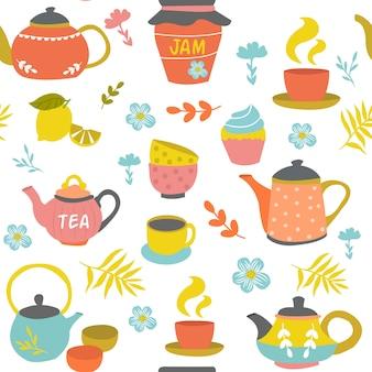 Padrão sem emenda de cerimônia de chá