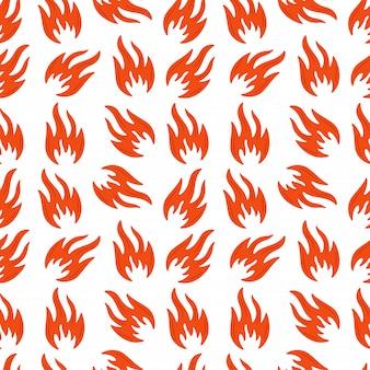 Padrão sem emenda de chamas de fogo. jatos de chamas