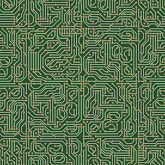 Padrão sem emenda de circuito digital