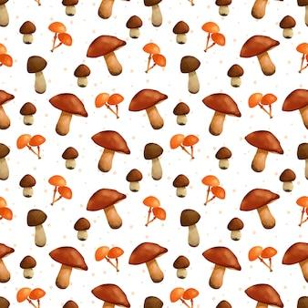 Padrão sem emenda de cogumelos lindo