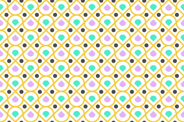Padrão sem emenda de colorido geométrico e moderno círculo