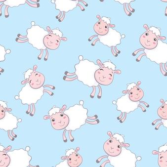 Padrão sem emenda de contagem de ovelhas para adormecer.