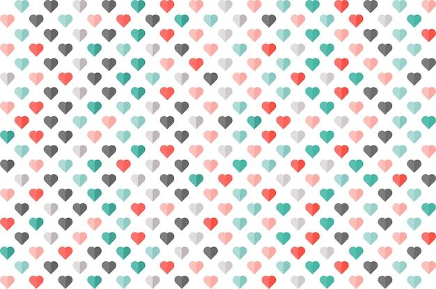 Padrão sem emenda de cor de coração. papel de parede, cartão, banner, negócios.