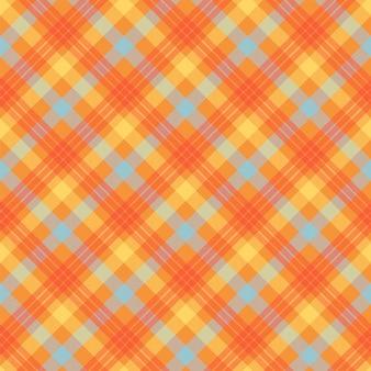 Padrão sem emenda de cor laranja tartan