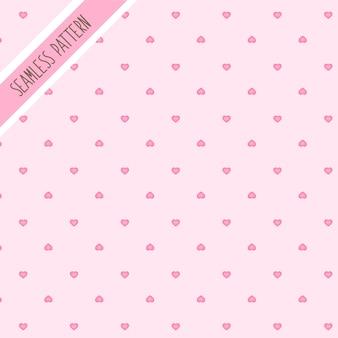 Padrão sem emenda de corações rosa