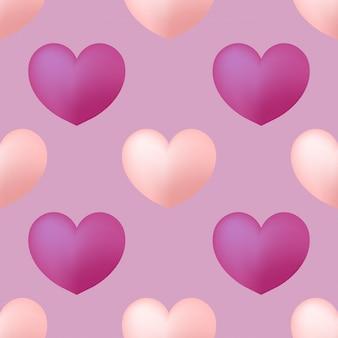 Padrão sem emenda de corações