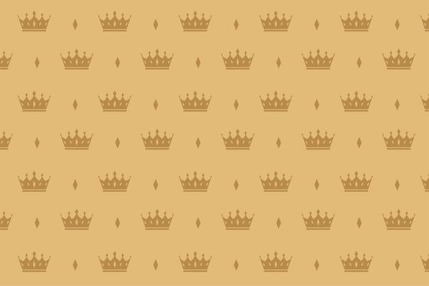 Padrão sem emenda de coroa de luxo
