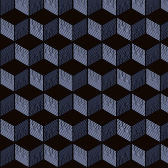 Padrão sem emenda de cubo geométrico