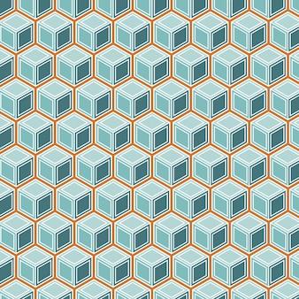 Padrão sem emenda de cubos isométricos