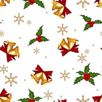 Padrão sem emenda de decorações de natal.