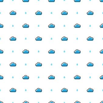Padrão sem emenda de desenho em nuvem