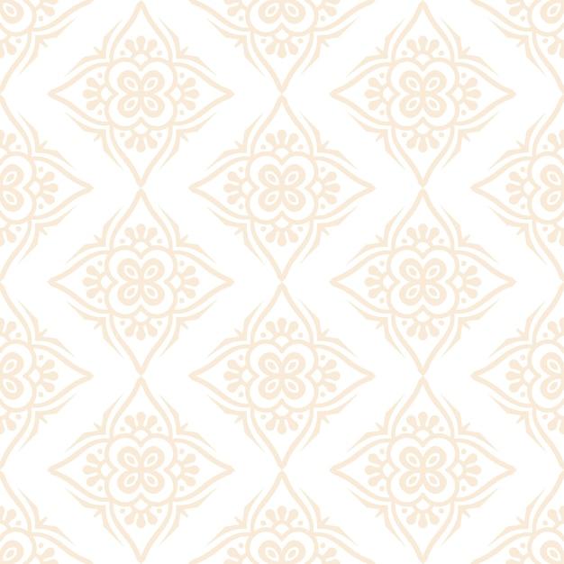 Padrão sem emenda de design de mandala ornamental de luxo na cor ouro