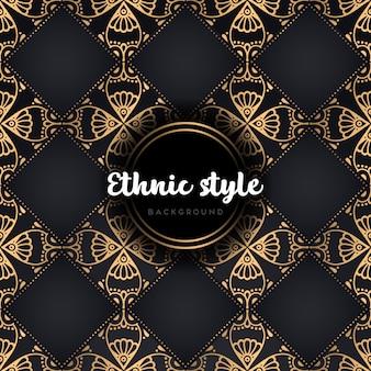 Padrão sem emenda de design étnico de luxo