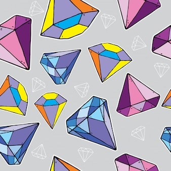 Padrão sem emenda de diamante,
