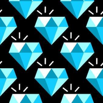 Padrão sem emenda de diamantes azuis de vetor