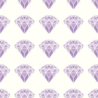 Padrão sem emenda de diamantes rosa roxos geométricos.