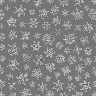 Padrão sem emenda de diferentes elementos de floco de neve