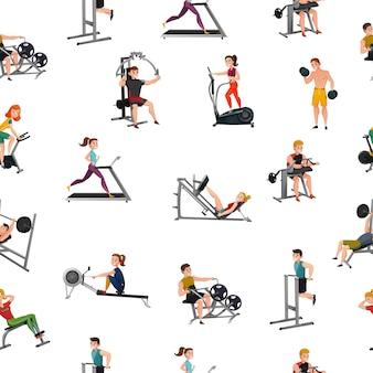 Padrão sem emenda de equipamento de exercício