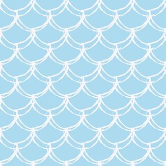 Padrão sem emenda de escala de peixe. réptil, textura de pele de dragão. plano de fundo lavável para o seu tecido, design têxtil, papel de embrulho, roupa de banho ou papel de parede. cauda de sereia azul com escama de peixe debaixo d'água.