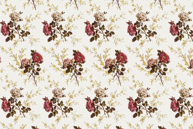 Padrão sem emenda de estilo vintage floral