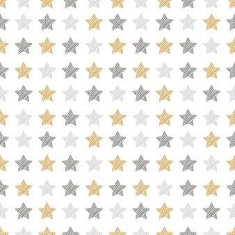 Padrão sem emenda de estrelas de natal
