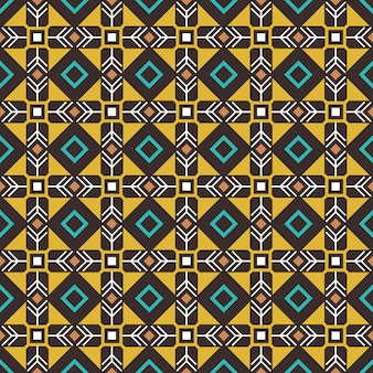 Padrão sem emenda de etnia. padrão étnico de artesanato pseudo-africano