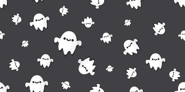 Padrão sem emenda de fantasmas.
