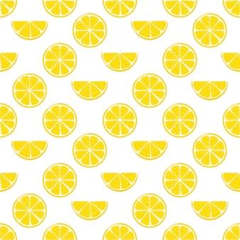 Padrão sem emenda de fatias de limão