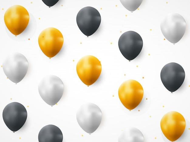 Padrão sem emenda de feliz aniversário balão