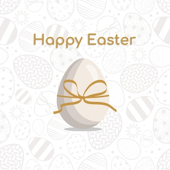 Padrão sem emenda de feliz páscoa com ovo símbolo da decoração festiva do feriado da primavera cristã
