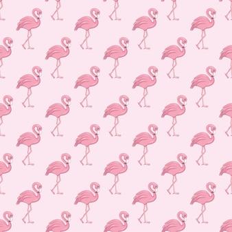 Padrão sem emenda de flamingo. fundo do vetor