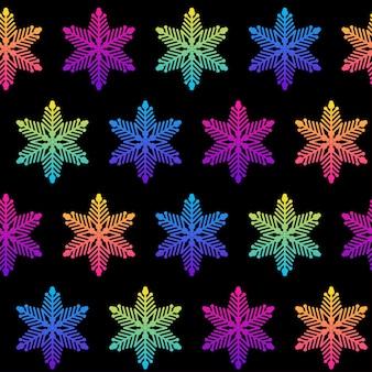Padrão sem emenda de floco de neve abstrato