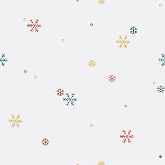Padrão sem emenda de floco de neve colorido
