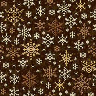 Padrão sem emenda de floco de neve, linha de neve de inverno ornamrnt, papel de embrulho.